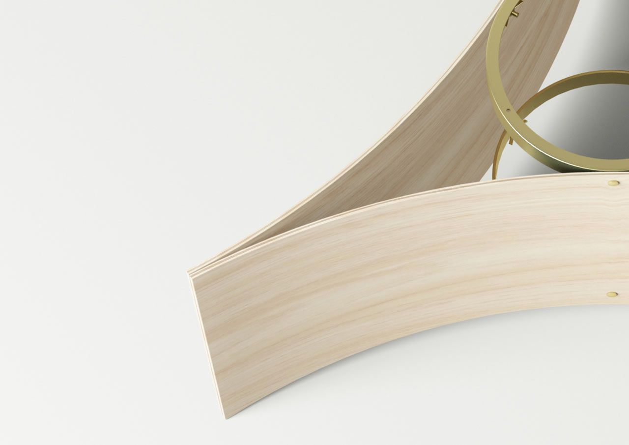 Tables With Bent Plywood Bases By Mario Tsai Design Milk Design Table Design