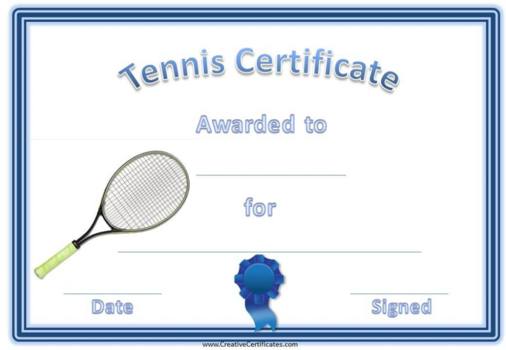 Tennis Gift Certificate Template 6 Best Templates Ideas For You Best Templates Ideas For You Di 2020
