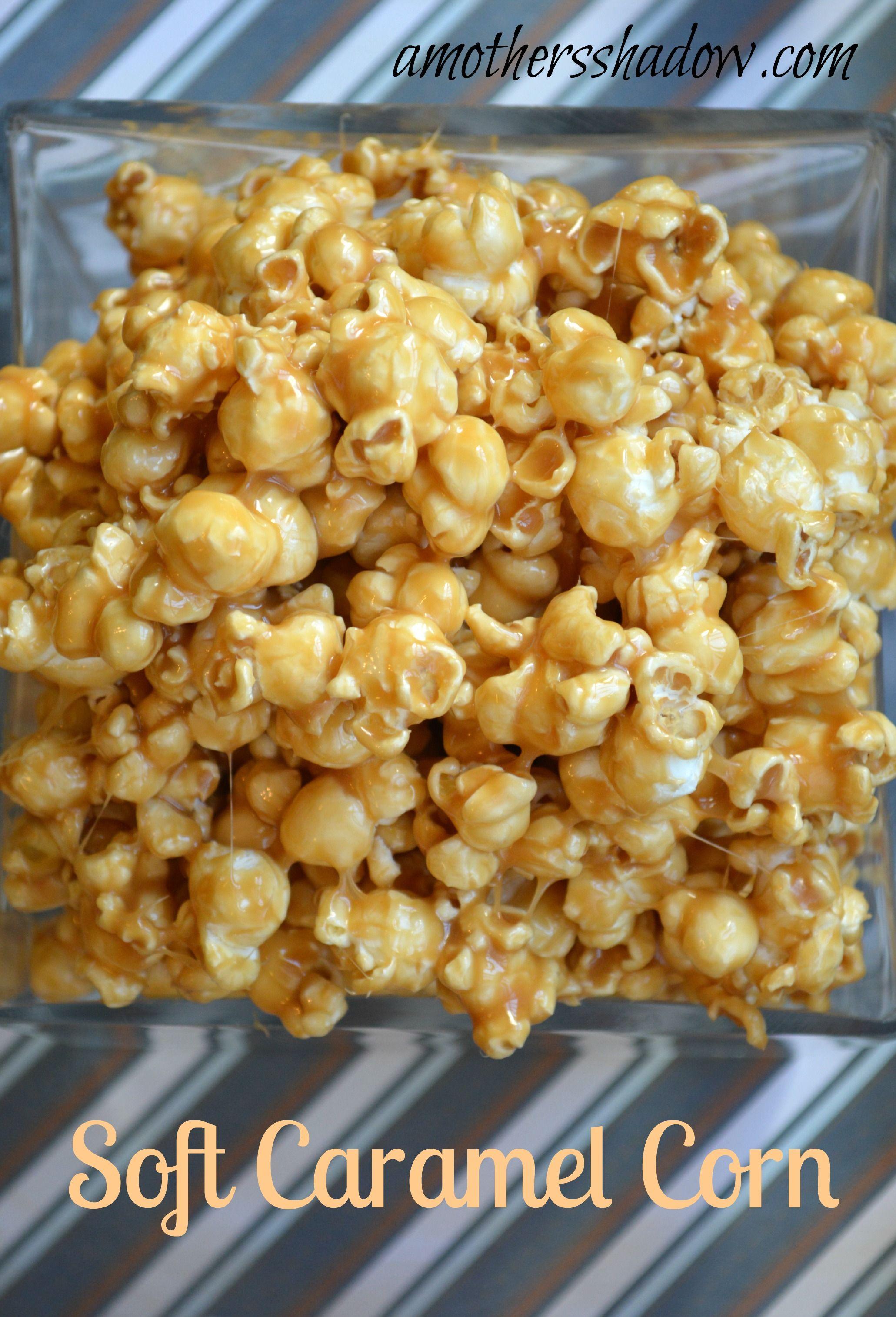 Soft And Creamy Caramel Corn Recipe Caramel Corn Popcorn Recipes Caramel Soft Caramel Popcorn