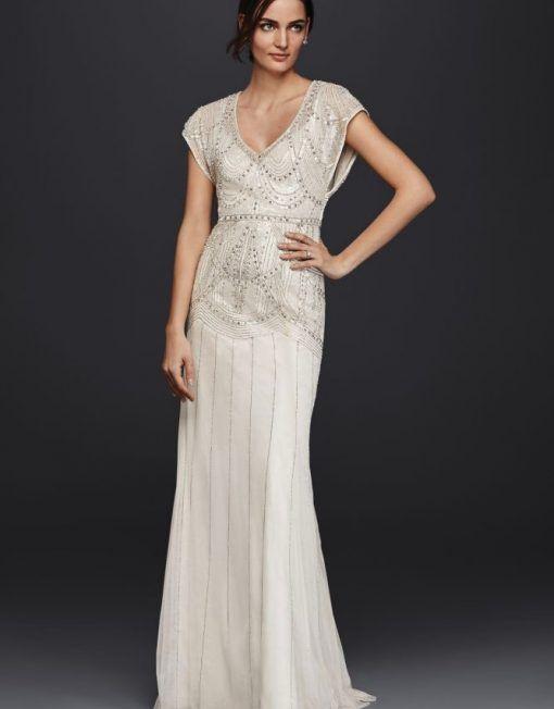 Beaded 1930s Blouson Wedding Gown Jenny Packham Deco Vintage Gowns Cinderella