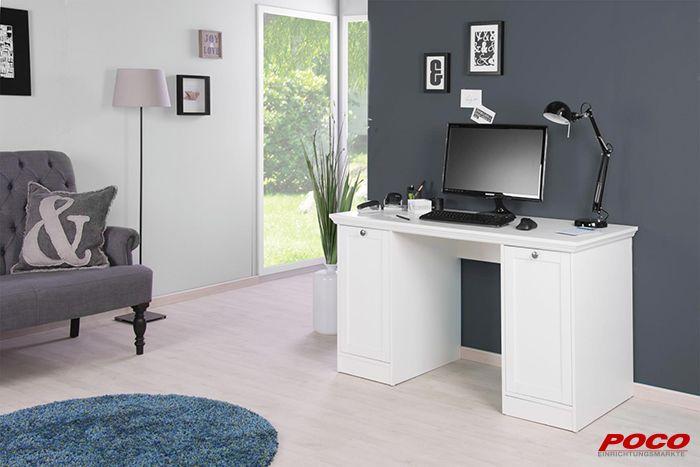 Praktischer Schreibtisch trifft auf romantischen Landhausstil Der - schlafzimmerschrank landhausstil weiß