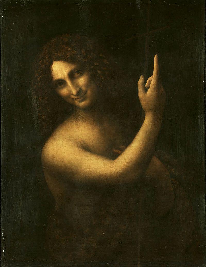 Leonardo da Vinci - Saint John the Baptist C2RMF retouched - Léonard de Vinci — Wikipédia