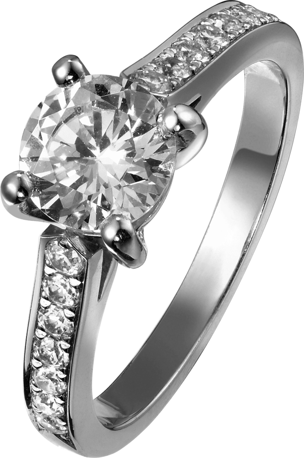 Engagement ring G34LK800 in platinum with diamonds