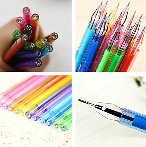 12Pcs/Lot Candy Color Diamond Gel Pen School Supplies Draw Pens Student Gifts