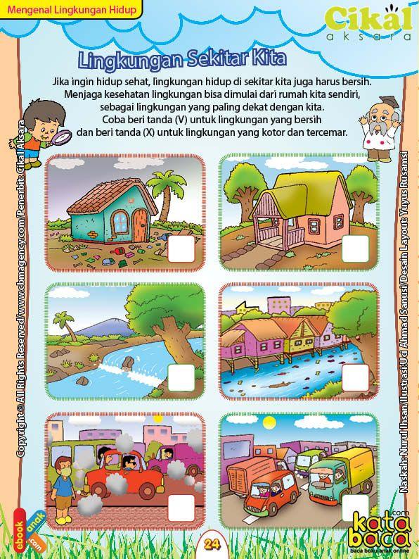 Worksheet Paud Tk A B Lingkungan Sekitar Kita Sains Anak Permainan Huruf Lembar Kerja