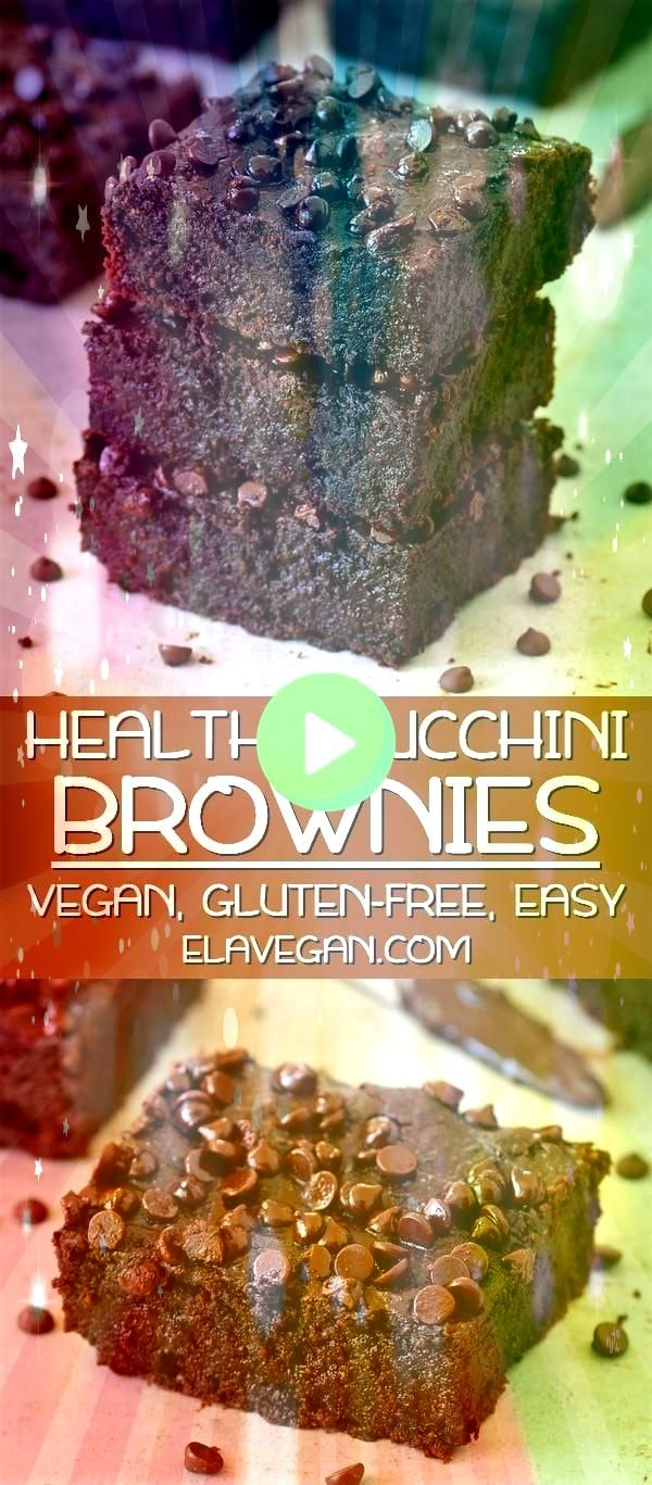 Zucchini Brownies Vegan Vegan zucchini brownies which are soft moist gooey fudgy and very chocolaty The recipe is plantbased glutenfree easy to make and delicious Enjoy t...
