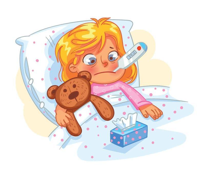 Картинки детские я заболел