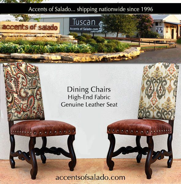 NEW Leather Dining Chairs at Accents of Salado Tuscan Decor
