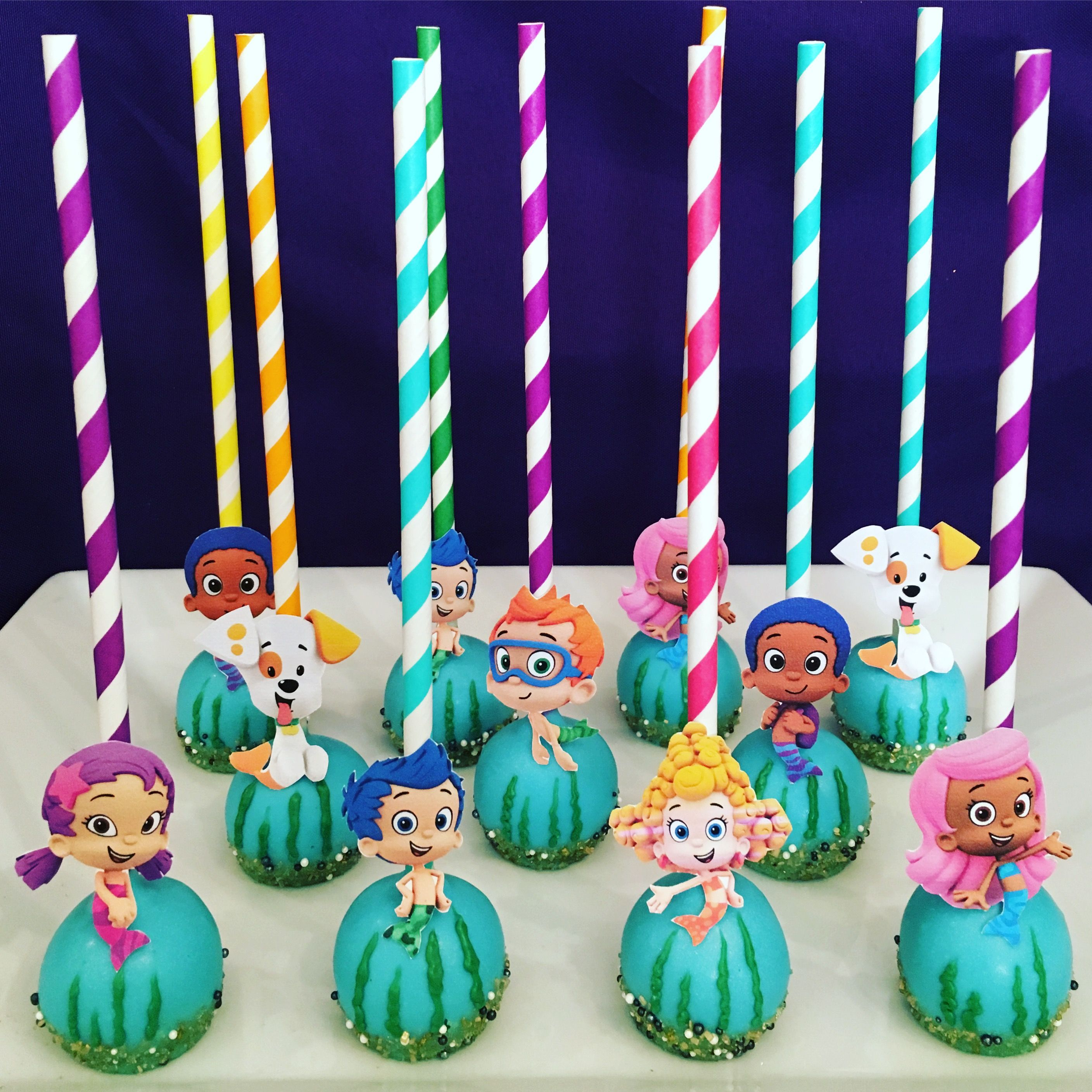 Bubble Guppies Cake Pops Etsy Com Shop Candysimply With Images