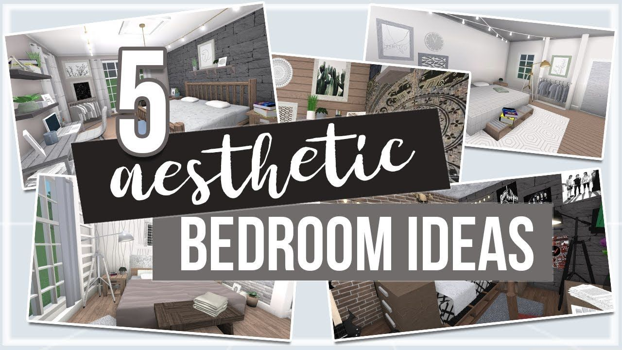 Roblox Bloxburg 5 Aesthetic Bedroom Ideas Aesthetic Bedroom