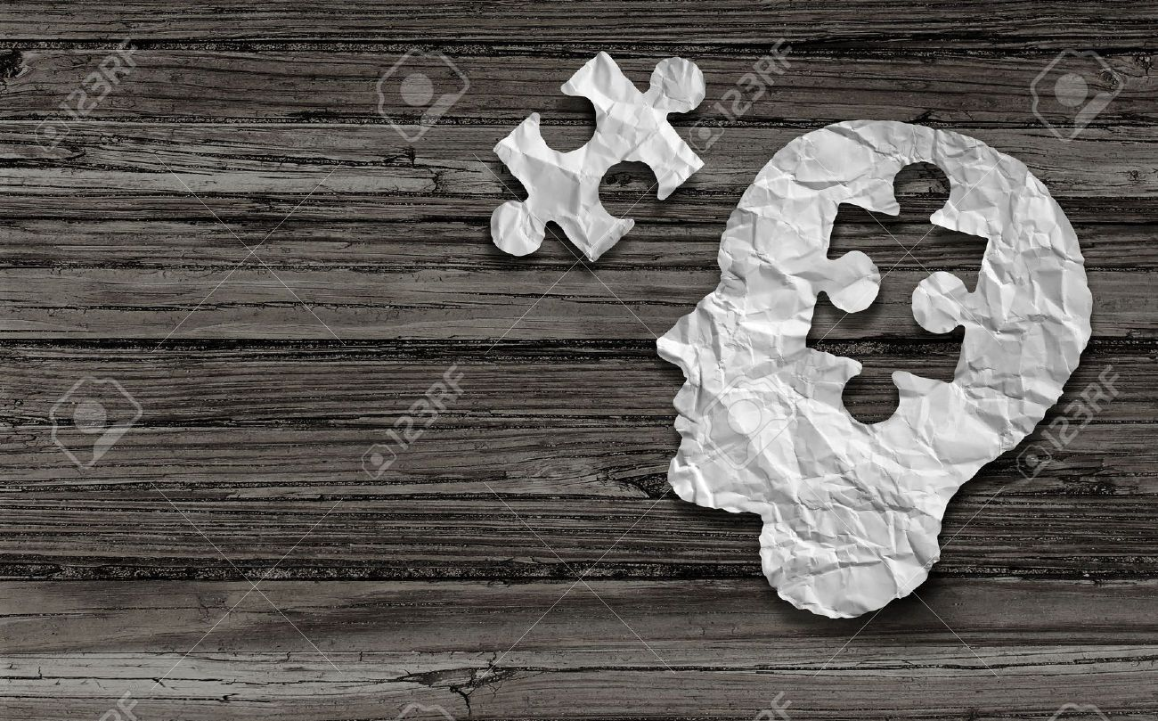 Stock Photo Mental Health Symbol Puzzle And Head Brain Concept As A Human