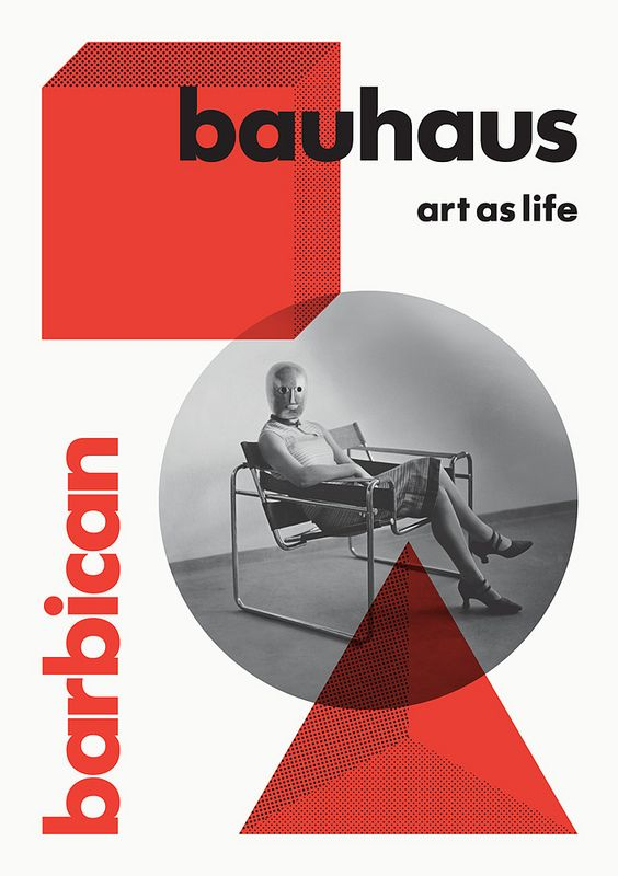 Bauhaus Style was another major and influential movement in Graphic Design History.  Also one of Inkedup's favorite era's in design, and not to mention, the Bauhaus typeface - a beautiful classic typeface. It's form is so fluid - the first of it's kind really.     Bauhaus exhibition at the Barbican in London