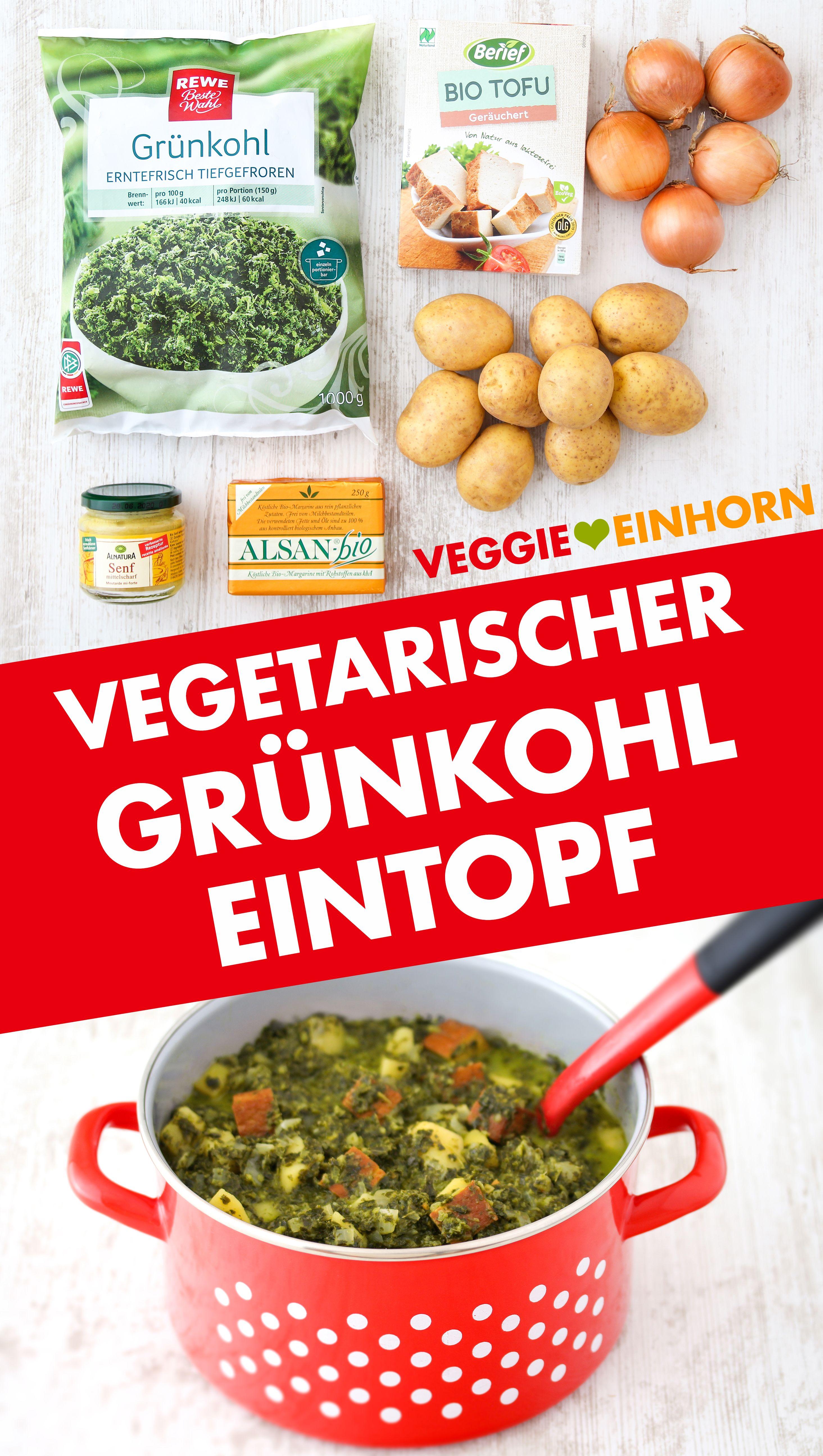 Veganer Grünkohleintopf | Grünkohl Eintopf vegetarisch