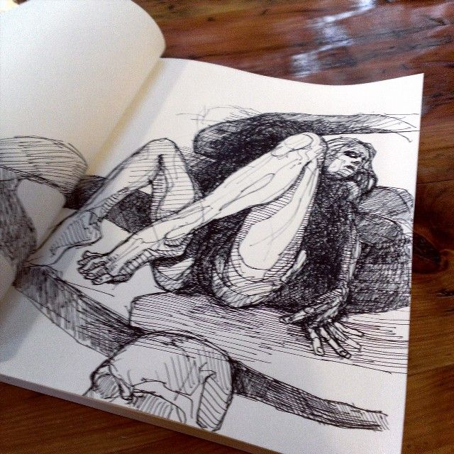 Morning #coffee and #ink at #ritualcoffee  #drawing #sketchbook #heybabycheckmeout #doodlersanonymous  #daily_art  #partsofdrawings #artists_cartel