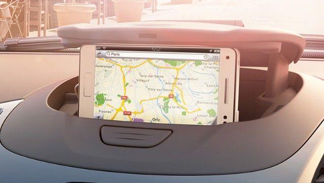 Ford KA+ MyFord Dock smart storage for smartphones