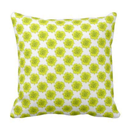 Yellow Sunflower Motif on a Throw Pillow - home gifts ideas decor ...