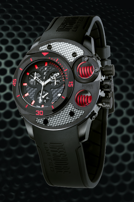 Offshore Limited Commando D Black & Red Watch