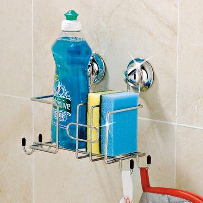 Accessori Bagno A Ventosa Everloc.Cleaning Station Supporto Con Sistema A Ventose Everloc Per Bagno Organizzazione Lavello Cucina Bagno Accessori
