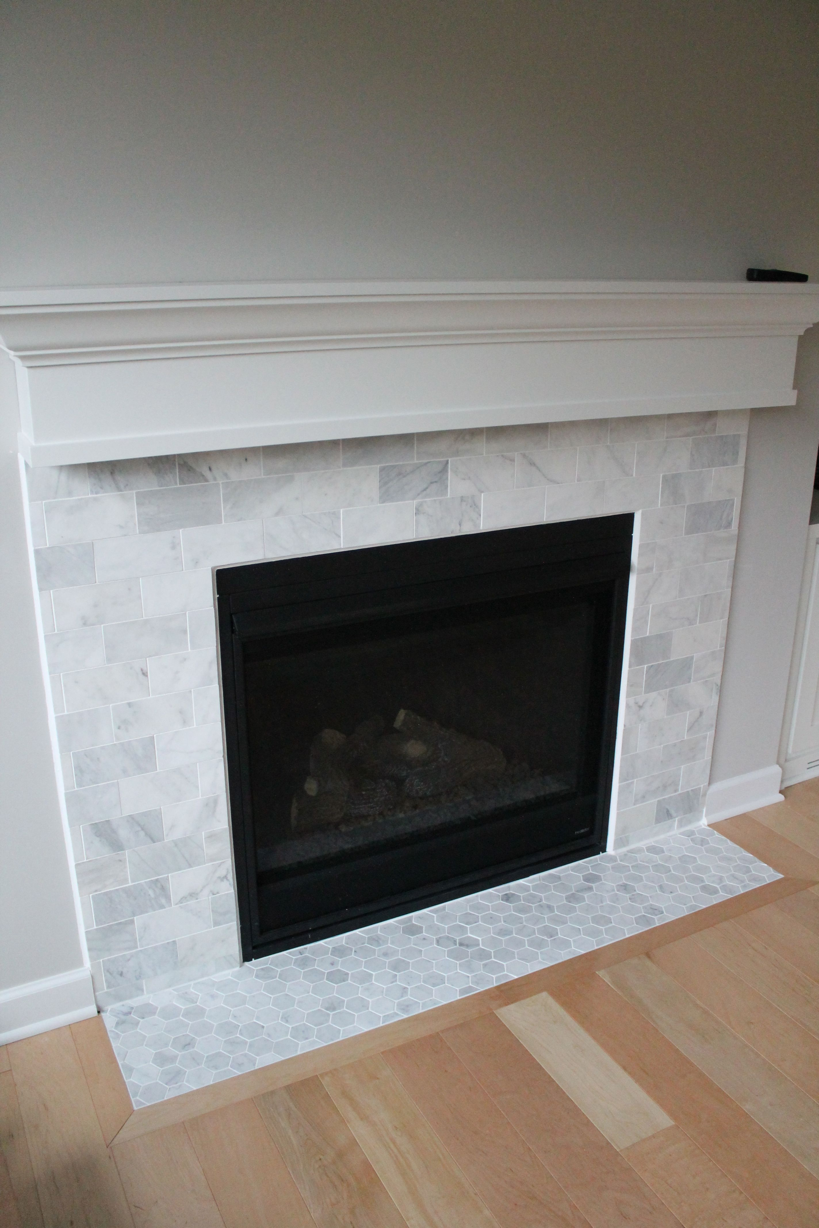 Gas Fireplace Facing Carrara Marble Fireplace Pictures Crate Furniture Ideas