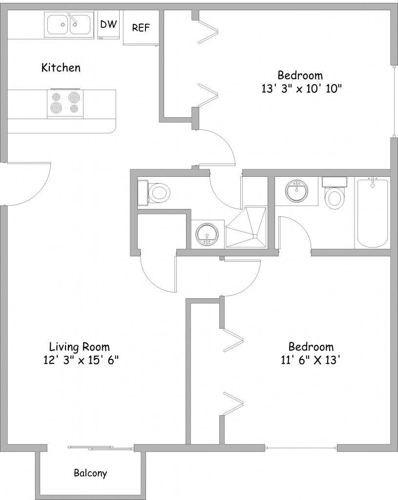 Apartment Floor Plans 2 Bedroom 2 Bedroom Apartments Rent College Park Apartments 2 Bedroom Apartment Floor Plan Apartment Floor Plans Bedroom Floor Plans