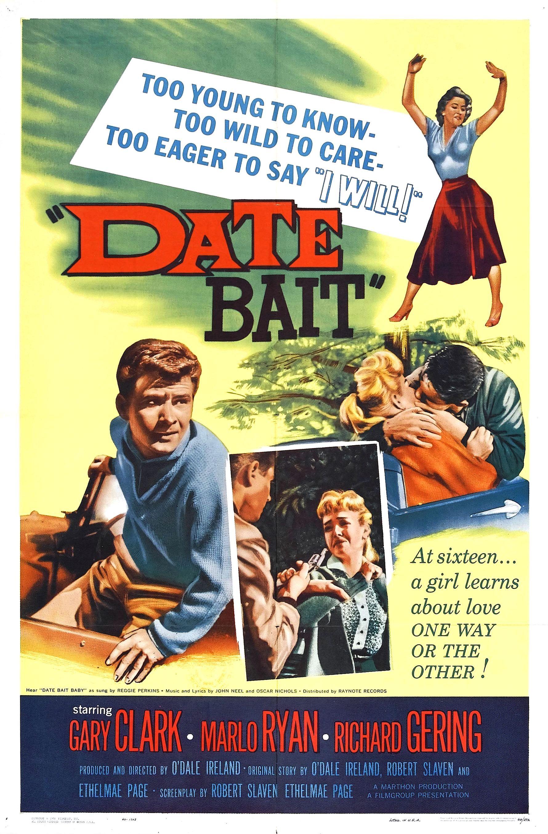 Date bait 1960 film posters vintage movie posters