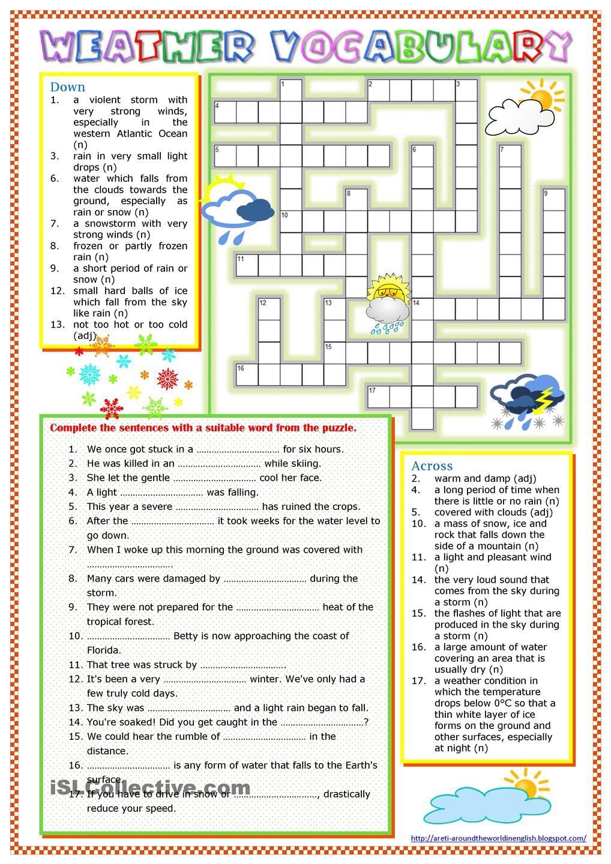 Weather Vocabulary B2 | School | Pinterest | Weather, English and ...