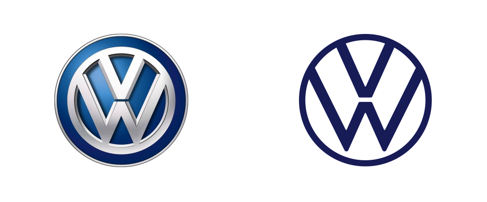 New Logo And Identity For Volkswagen Done In House In 2020 Logo Redesign Volkswagen Identity Logo