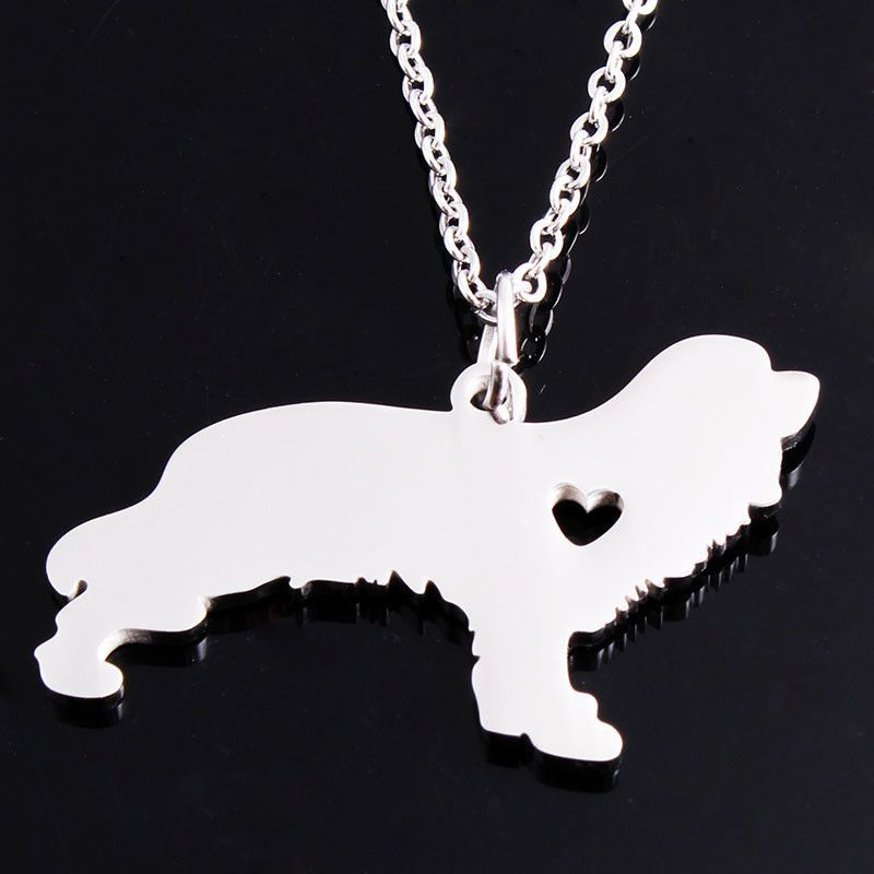 I Heart Cavalier King Charles Spaniel Necklace ,Dog Necklace ,Silver Necklace