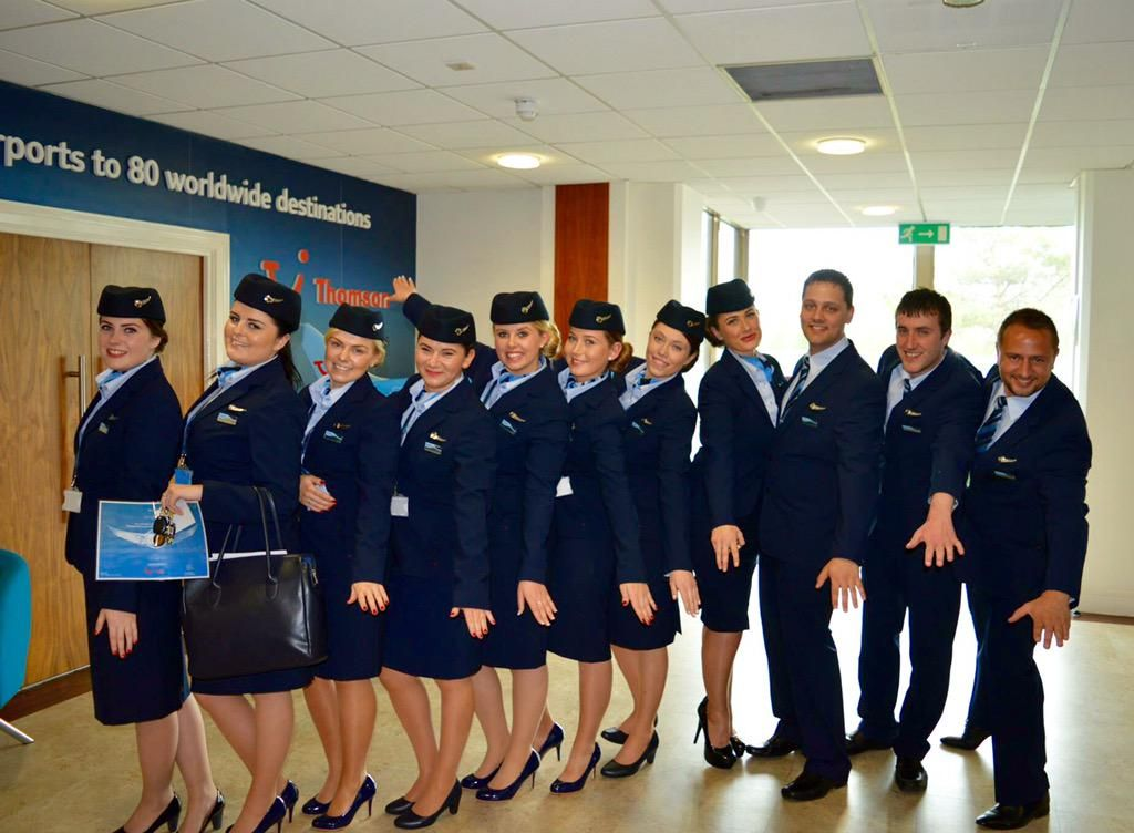 our new starters ltn cabin crew looking smart in