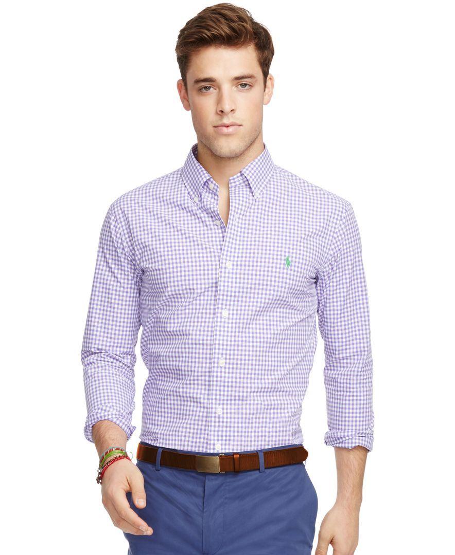00a40be06 Polo Ralph Lauren Slim-Fit Gingham Poplin Shirt