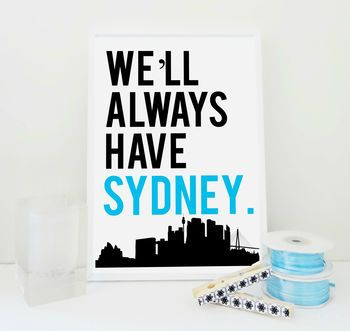 We'll Always Have Sydney in Ice Blue