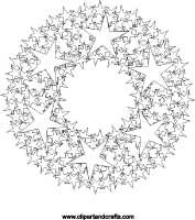 wreath of stars mandala coloring page