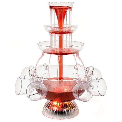 Nostalgia Electric Lpf 210 Lighted Wedding Punch Champagne 4 Tier Drink Fountain