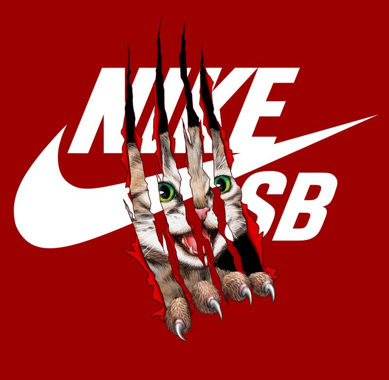 nike sb �cat scratch� art directed by trent from doubleday