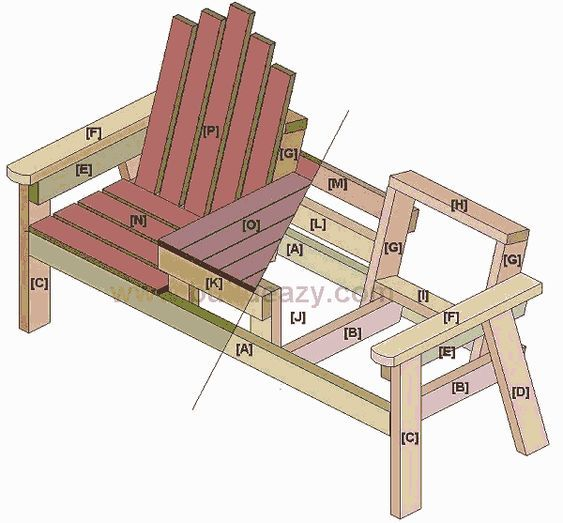 Stupendous Buildeazy How To Build A 2 Seater Bench With A Center Table Customarchery Wood Chair Design Ideas Customarcherynet