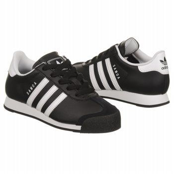 adidas Samoa Leather Pre Shoes (Black/White/Black) - Kids' Shoes