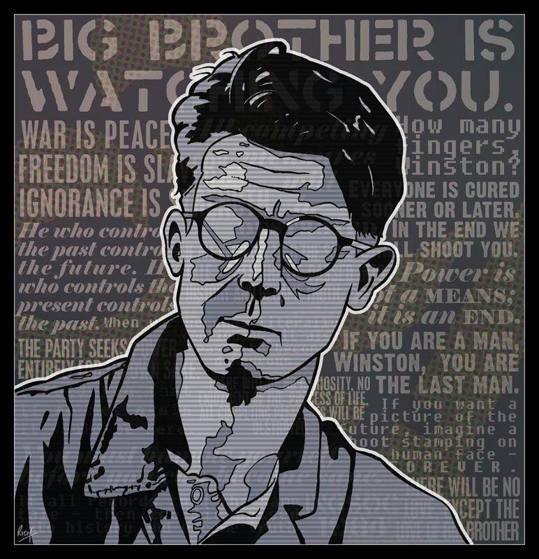 Winston Smith (John Hurt) 1984 movie Typography poster