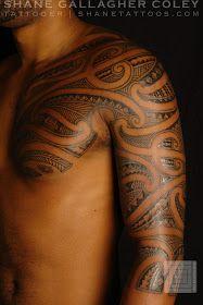 c049fdee5 SHANE TATTOOS: Maori/Polynesian Chest Half Sleeve Tattoo | Tattoos ...