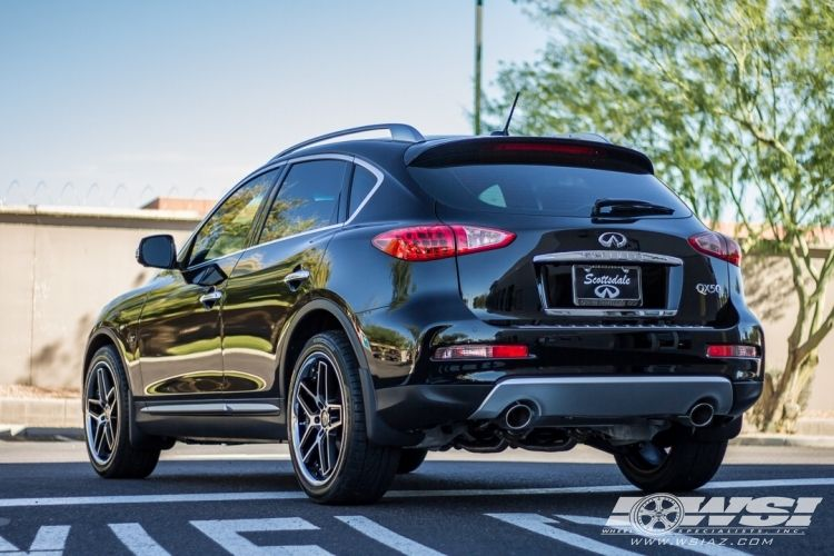 """2016 Infiniti QX50 with 20"""" Giovanna Austin in Black Machined (Chrome Stainless Steel Lip) wheels"""