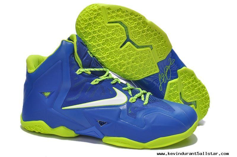 Blue Volt Lebron James Shoes 2013 Nike Lebron XI (11)