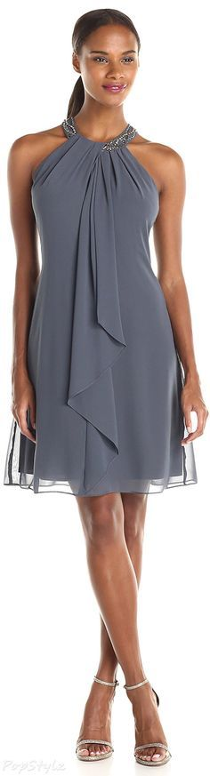 S.L. Fashions Jewel-Neck Sheath Dress | Gorgeous Fashion