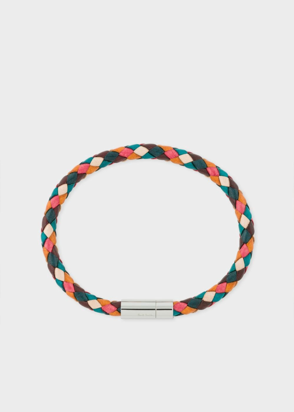 3ba9fe4c5d472 PAUL SMITH Men's Multi-Coloured Leather Plaited Bracelet. #paulsmith ...