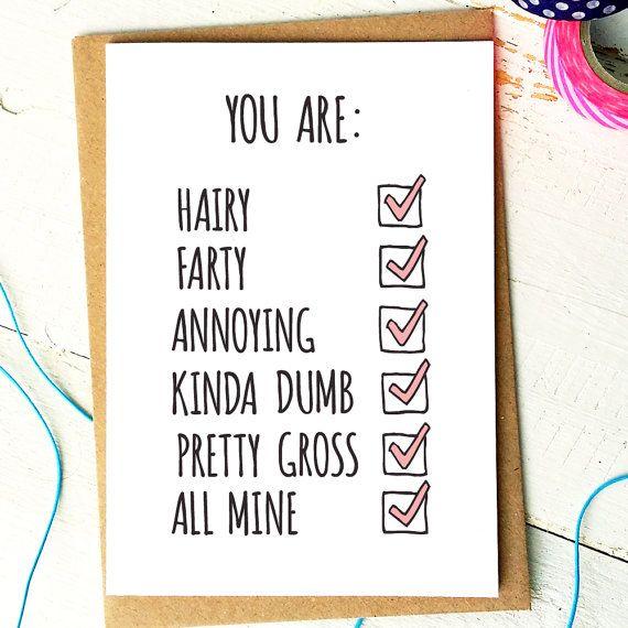 Valentines Card Funny Valentine Card Funny Boyfriend Card