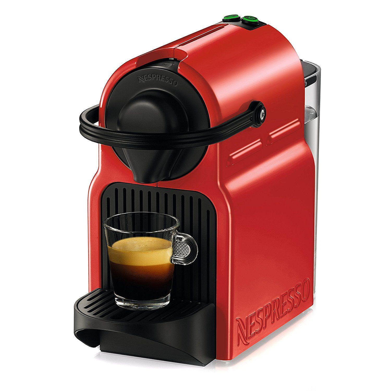 Amazon Com Nespresso Red Original Line Inissia Espresso Maker Kitchen Dining Nespresso Coffee Machine Coffee Machine Nespresso