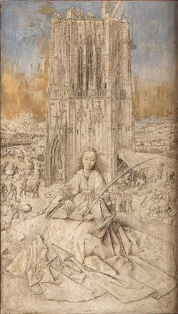 """""""Saint Barbara"""" by Jan van Eyck"""