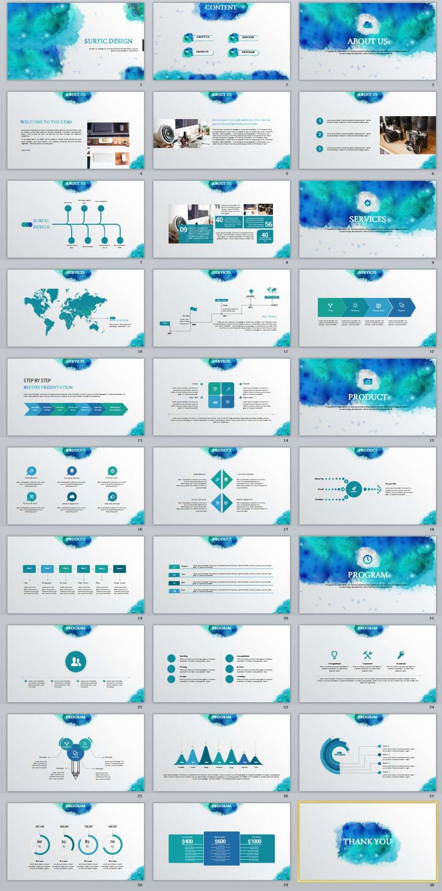 30 best watercolor multipurpose powerpoint template apresentao 30 best watercolor multipurpose powerpoint template the highest quality powerpoint templates and keynote templates download toneelgroepblik Choice Image