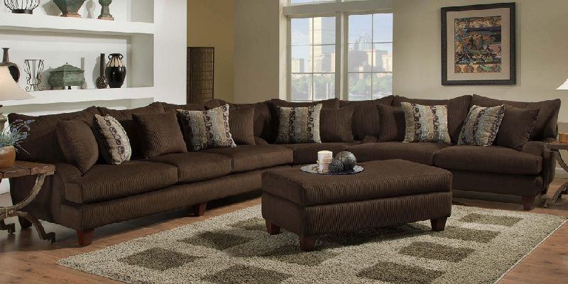 Brown 7 Seater Sectional Sofa