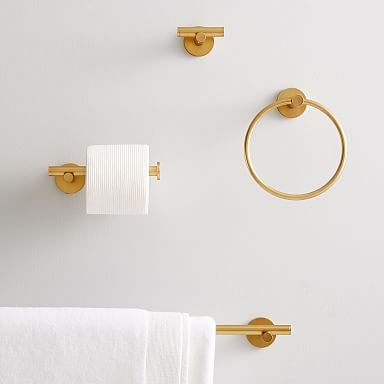 Photo of Moderne Überhang-Badbeschläge – Messing