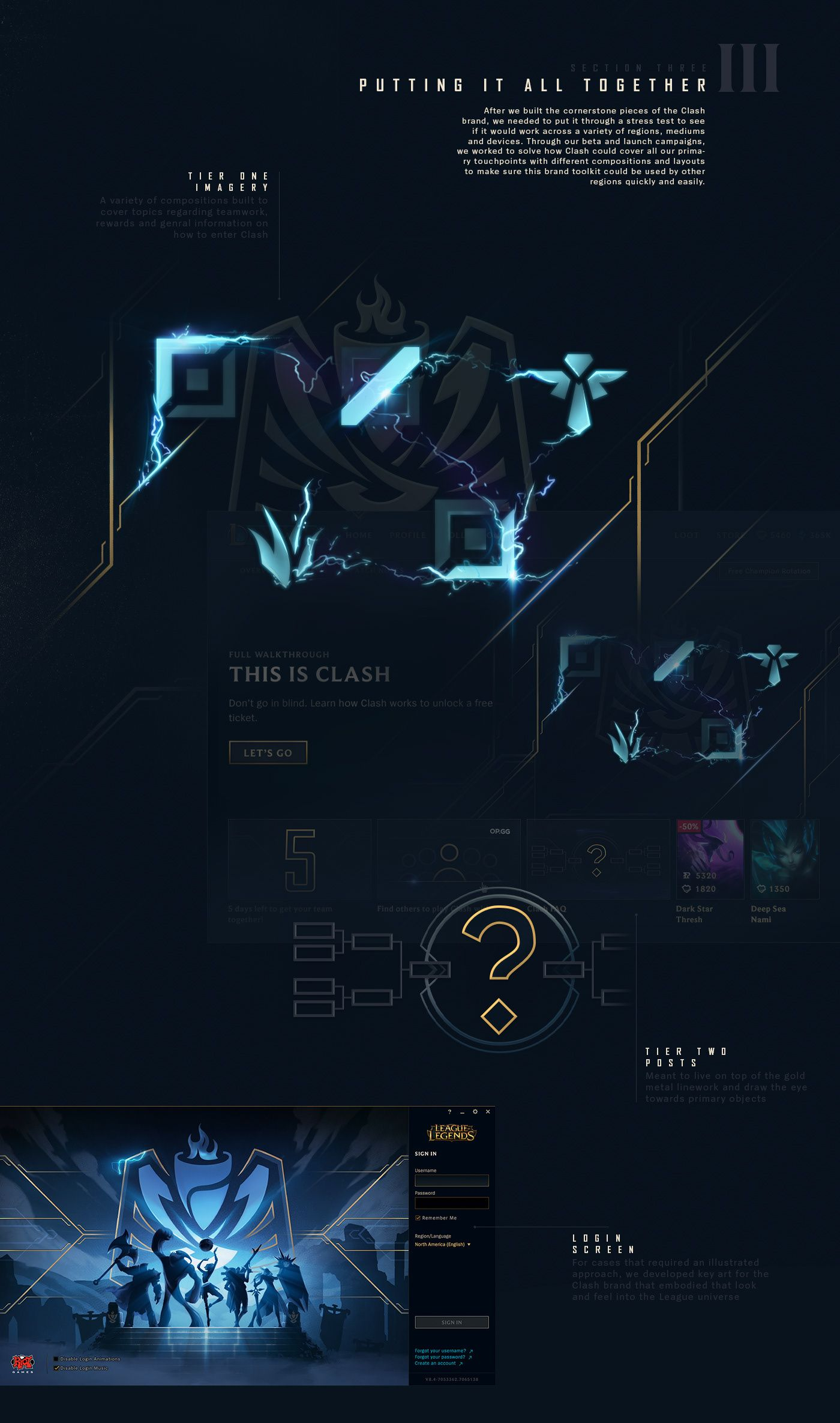 League Of Legends Clash Tournaments Branding On Behance In