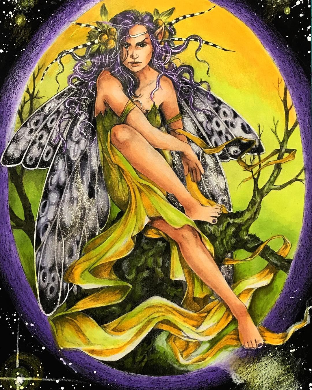 Coloring in #Fairy and #Fantasy Art by Linda Ravenscroft #Colorbook ...